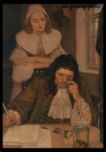 Antonie van Leeuwenhoek and his wife