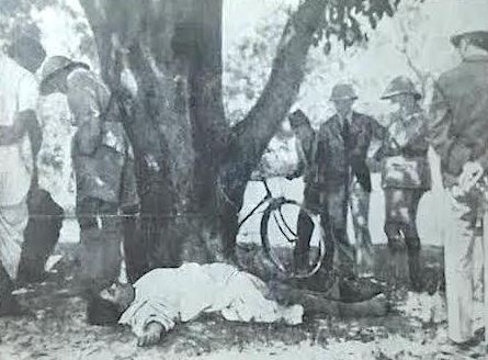 Dead body of Chandra Shekhar Azad