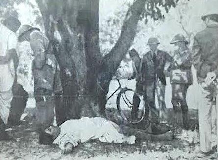 Dead body of Chandra Shekhar Azad