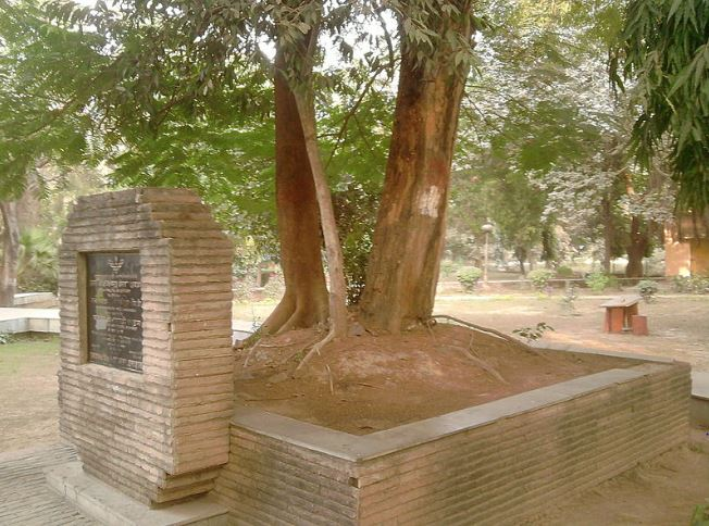 The Tree Where Chandra Shekhar Azad Died                         ( Image credit: Wikipedia )